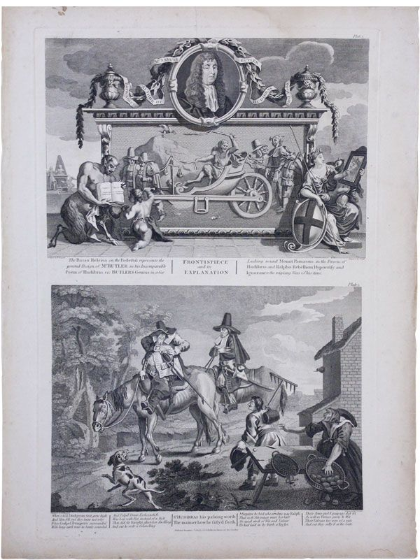 Hudibras. Plates I-XII (complete) [from] Hogarth Restored: the Whole Works of the Celebrated William Hogarth. CARICATURE - GREAT BRITAIN, William HOGARTH, Engraver Thomas Cook, after.