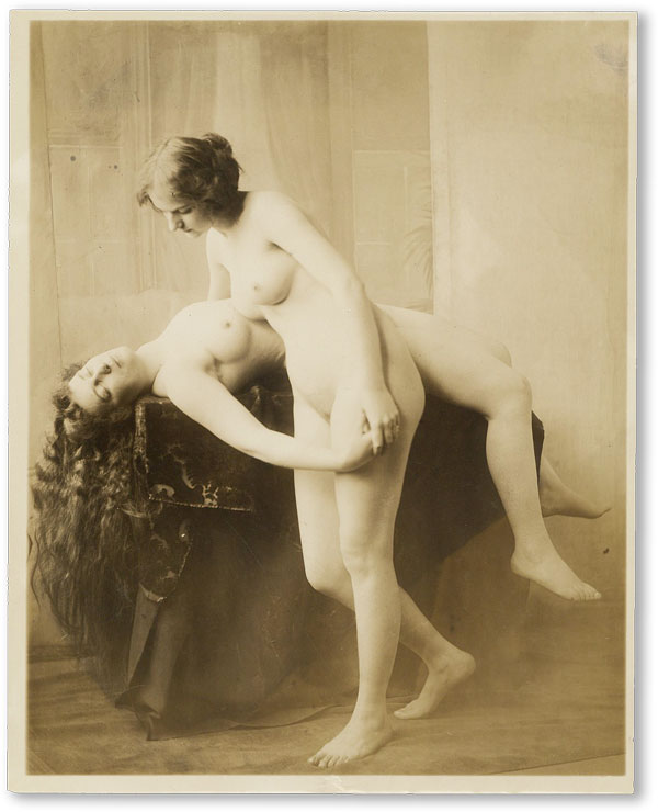 19th Century Erotic Gravure of Two Nude Women. PHOTOGRAPH.