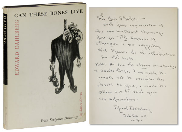 Can These Bones Live. With Forty-two Drawings by James Kearns and a Preface by Sir Herbert Read. Edward DAHLBERG.