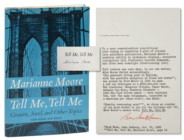 Tell Me, Tell Me. Granite, Steel and Other Topics. Marianne MOORE.