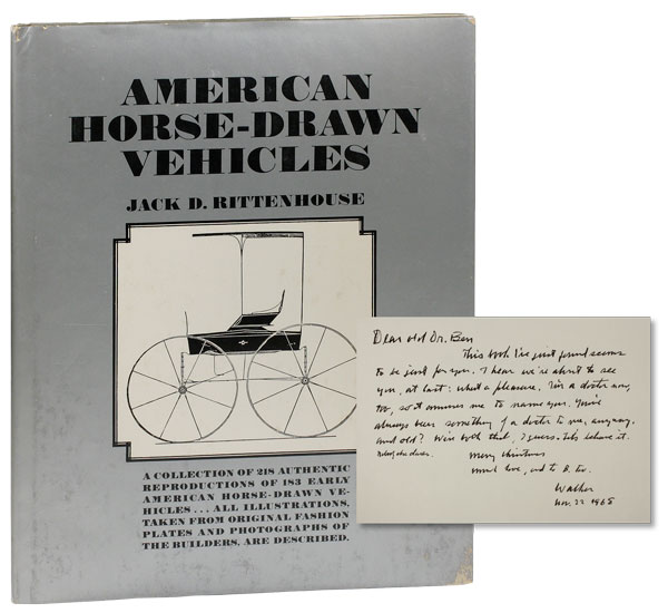 American Horse-Drawn Vehicles. WALKER EVANS, Jack D. RITTENHOUSE.