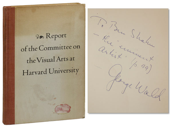 Report of the Committee on the Visual Arts at Harvard University. Committee on Visual Arts, Chairman John Nicholas Brown.