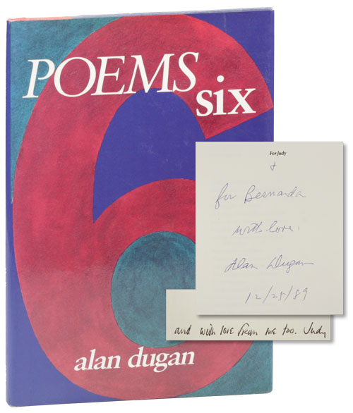 Poems Six. Alan DUGAN.