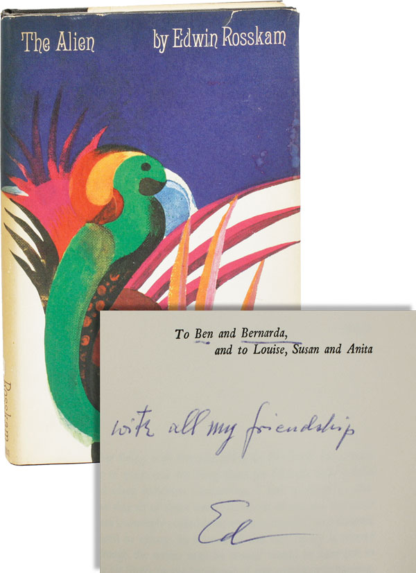 The Alien. The Dedication Copy, Inscribed to Ben & Bernarda Shahn. Edwin ROSSKAM.