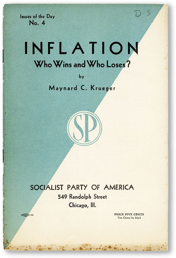 Inflation Who Wins and Who Loses? Maynard C. KRUEGER.