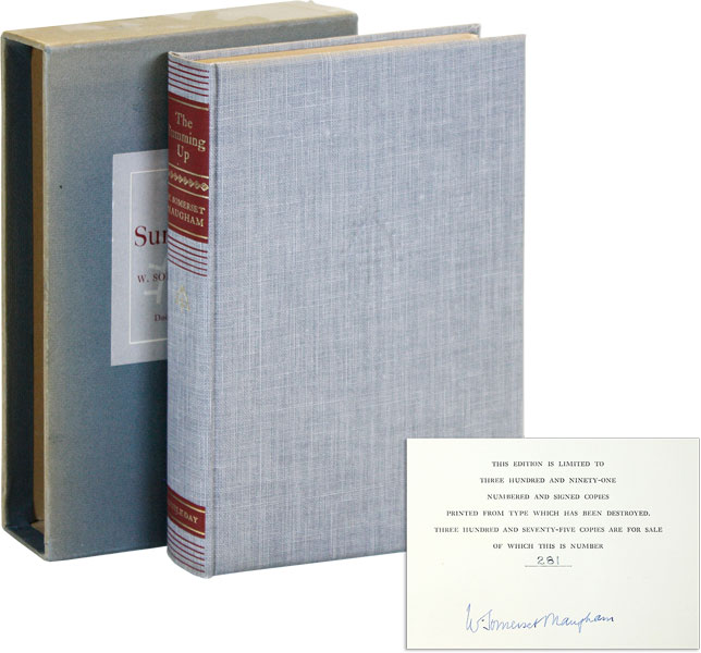 The Summing Up [Limited Edition, Signed]. W. Somerset MAUGHAM.