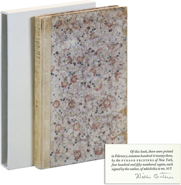 April Twilights and Other Poems [Limited Edition, Signed]. Willa CATHER.