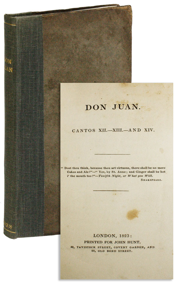 Don Juan. Cantos XII. XIII. And XIV. Lord BYRON.