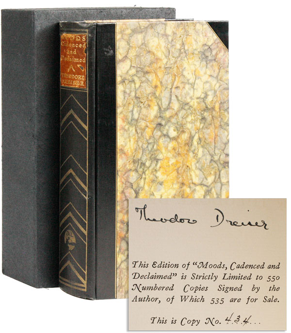 Moods: Cadenced and Declaimed [Limited Edition, Signed]. Theodore DREISER.