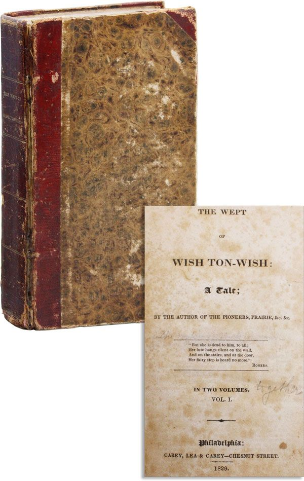 The Wept of Wish Ton-Wish: A Tale [alt. title The Borderers]. James Fenimore COOPER.