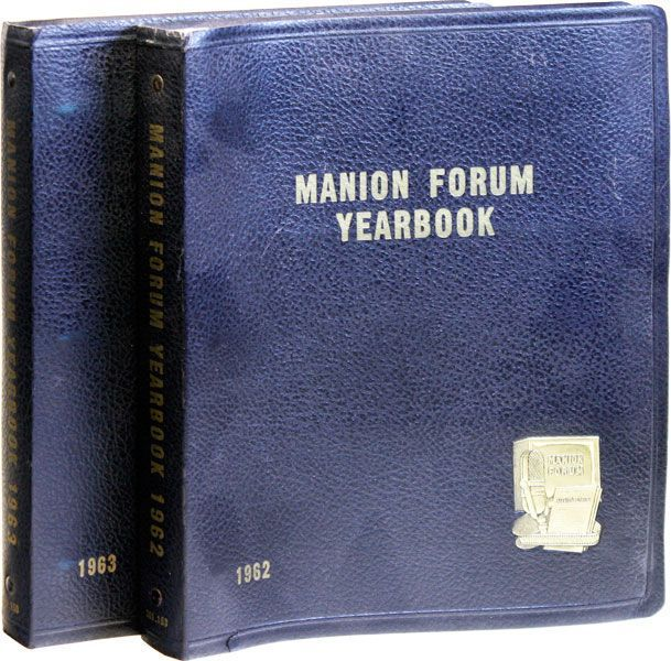 Manion Forum Yearbook, 1962 & 1963 [Broadcast Nos. 380-482]. Clarence MANION.