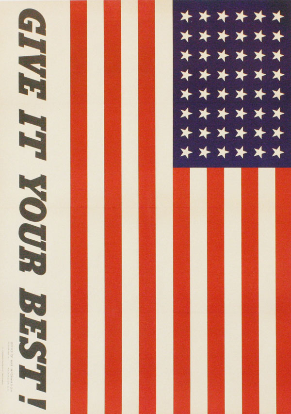 "Poster: ""Give It Your Best!"" Charles COINER, artist."