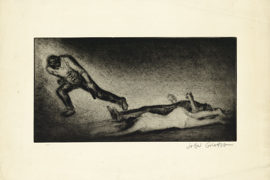 Drypoint Etching, Untitled. John GROTH.