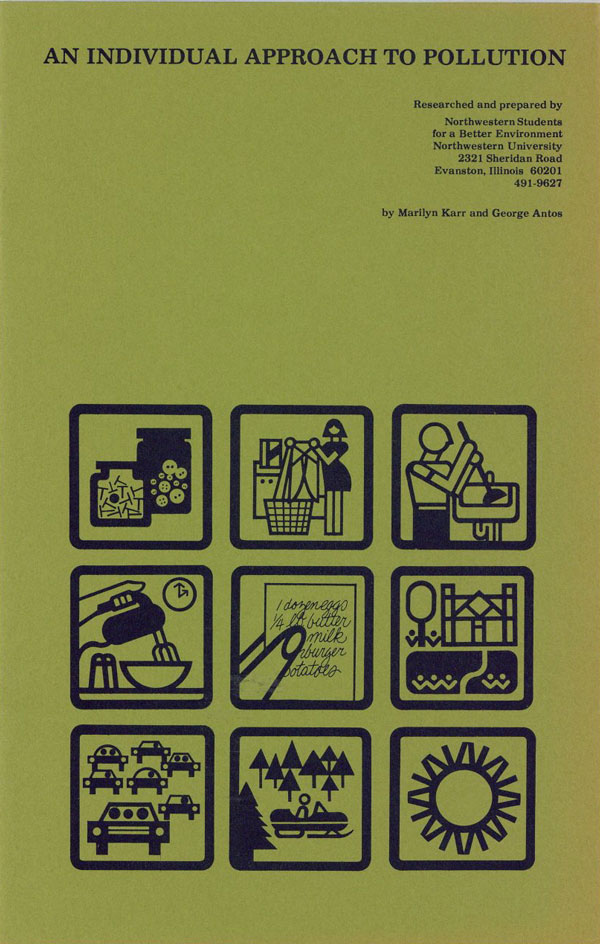 An Individual Approach to Pollution [cover title]. Marilyn KARR, George Antos.