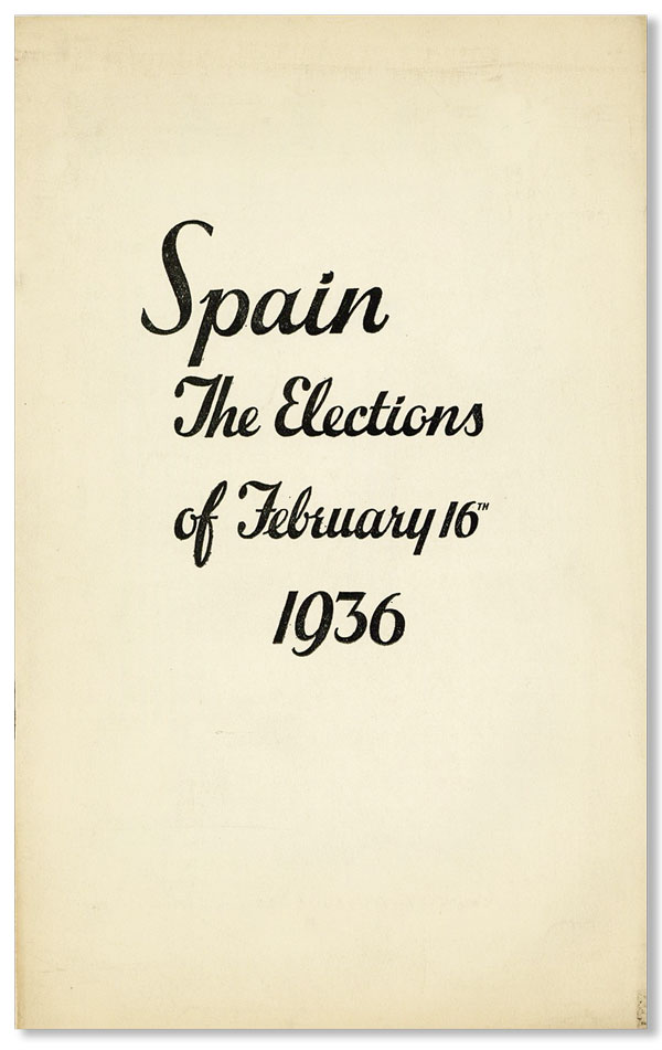 Spain: The Elections of February 16, 1936. John H. HUMPHREYS, contr.
