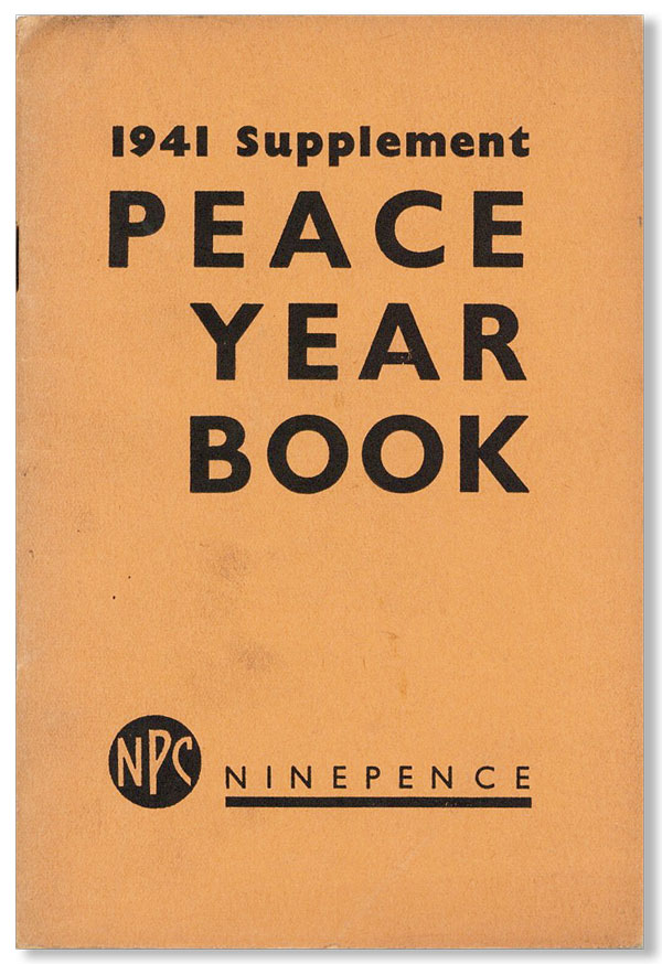 Peace Year Book, Supplement for 1941. NATIONAL PEACE COUNCIL.