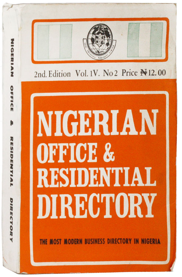 Nigerian Office & Residential Directory. 2nd. Edition. Vol. IV, no. 2. NIGERIA.