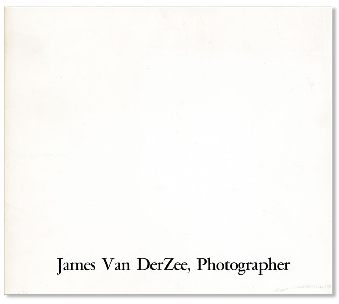 James Van DerZee, Photographer. James VAN DERZEE, VAN DER ZEE.