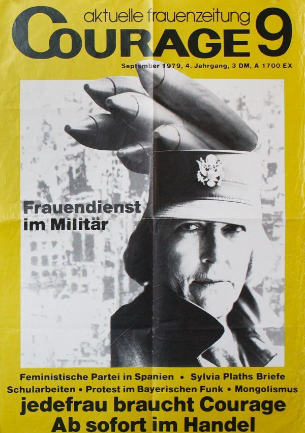 Poster: Aktuelle Frauenzeitung / Courage 9, September, 1979, 4. Jahrgang. FEMINISM - GERMANY.