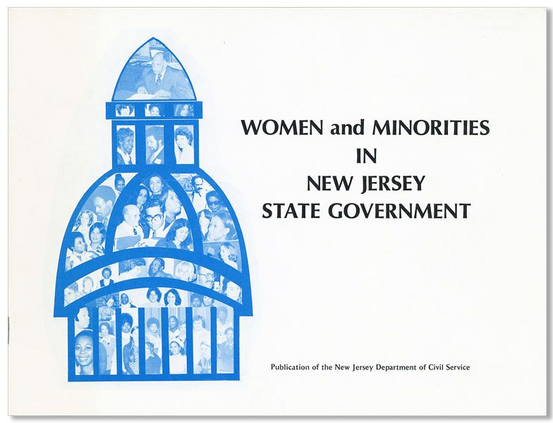 Women and Minorities in New Jersey State Government [cover title]. NEW JERSEY DEPARTMENT OF CIVIL SERVICE.