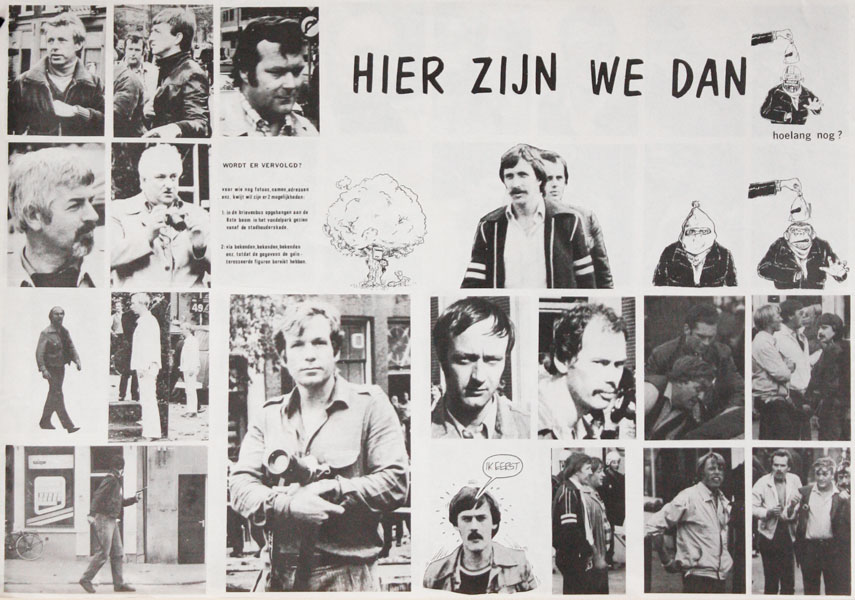 [Poster] Hier Zijn We Dan. Hoelang Nog? [Here We Are. But for How Long?]. SQUATTERS MOVEMENT - NETHERLANDS.