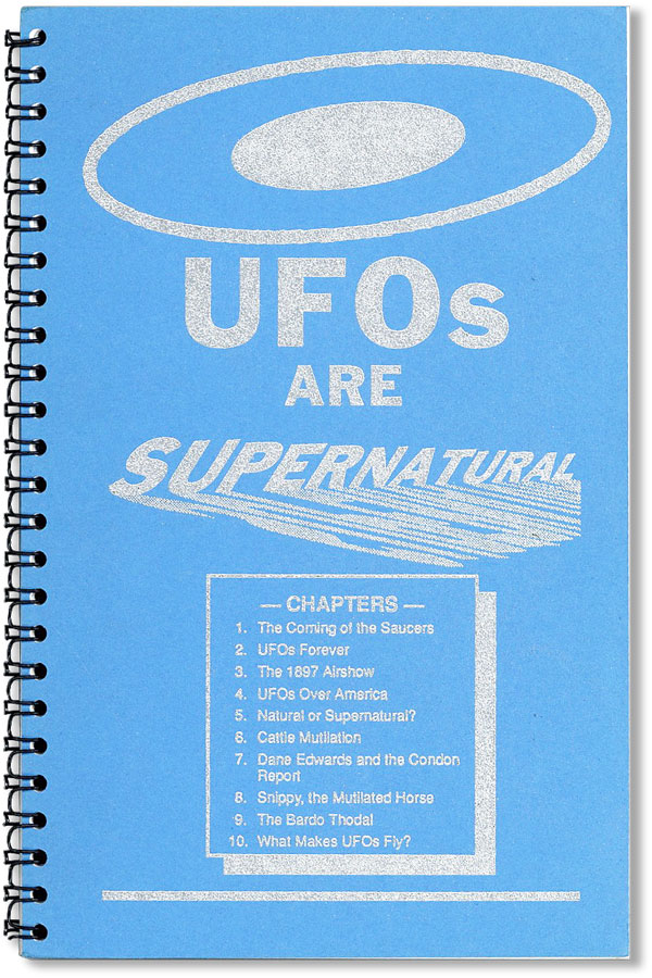UFOs Are Supernatural. Fred WILLIAMS.
