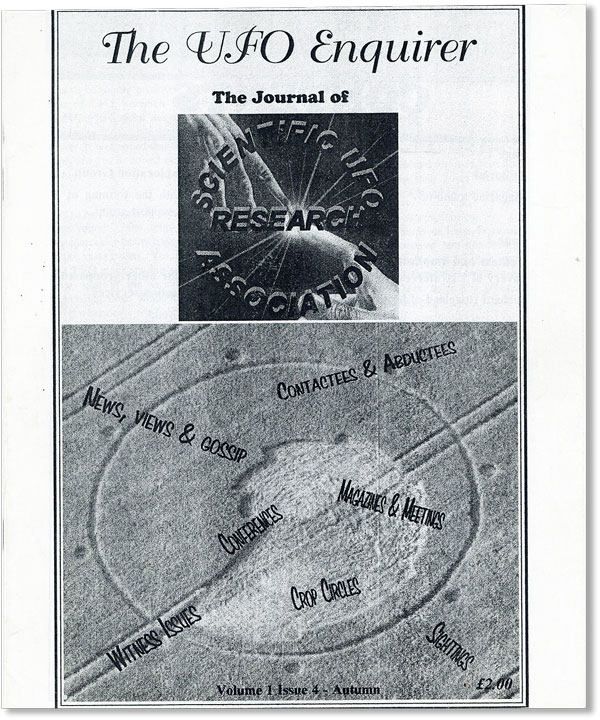 The UFO Enquirer: The Journal of [the] Scientific UFO Research Association. Vol. 1, Issue 4, Autumn. Mark HAYWOOD, ed.
