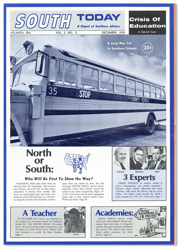 South Today: A Digest of Southern Affairs. Vol. 2, No. 5 (December 1970). SOUTHERN REGIONAL COUNCIL.