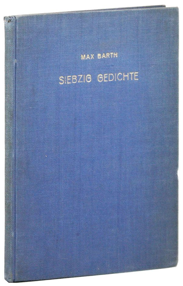 Siebzig Gedichte [Typescript, with author's corrections]. RADICAL, PROLETARIAN LITERATURE.