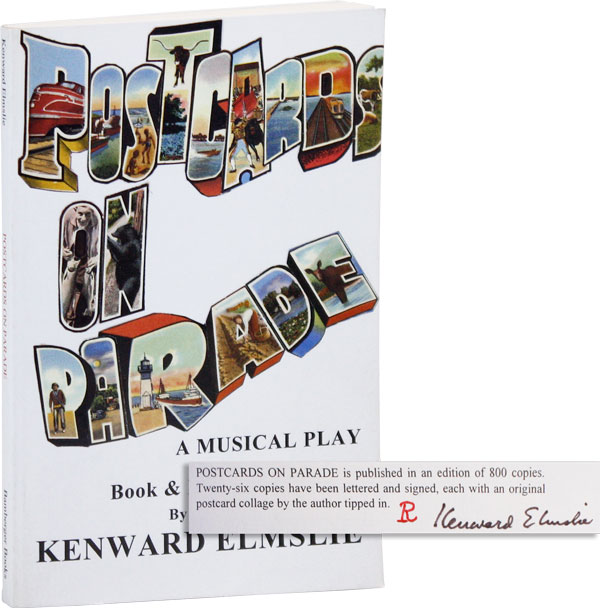 Postcards on Parade (Lettered Edition). Book, Lyrics, Kenward ELMSLIE, Steven Taylor, music.