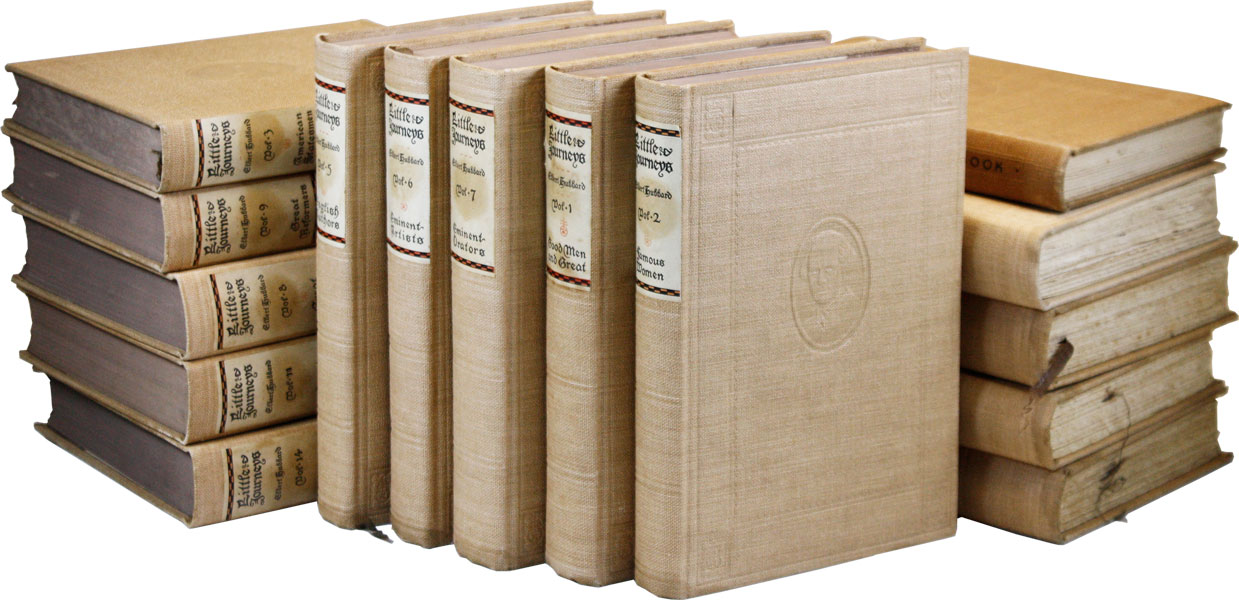 Little Journeys to the Homes of the Great [Memorial Edition, in 14 Volumes + Little Journeys Guide Book]. Elbert HUBBARD.