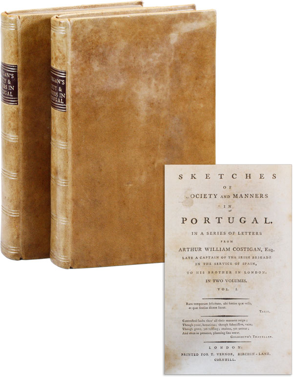 Sketches of Society and Manners in Portugal. TRAVEL, Arthur William COSTIGAN, PORTUGAL.