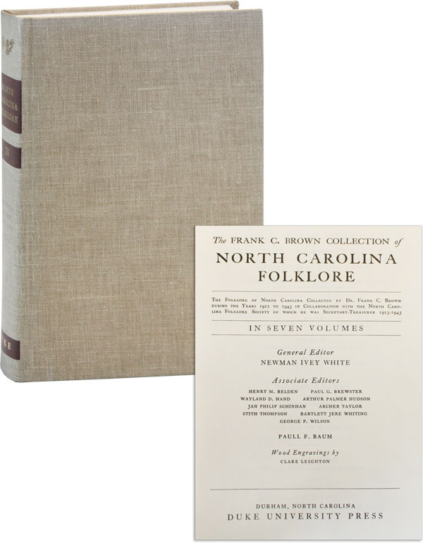 The Frank C. Brown Collection of North Carolina Folklore. Volume Four [4]: The Music of the Ballads. Jan Philip SCHINHAN.