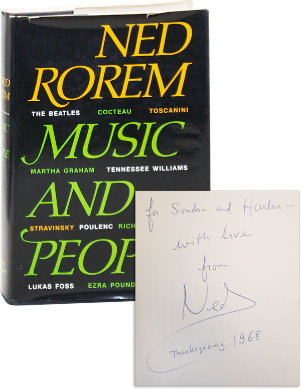 Music and People [Inscribed to Sondra Lee]. Ned ROREM.