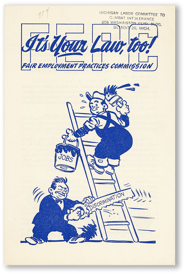 It's Your Law Too! Fair Employment Practices Commission. JEWISH LABOR COMMITTEE.