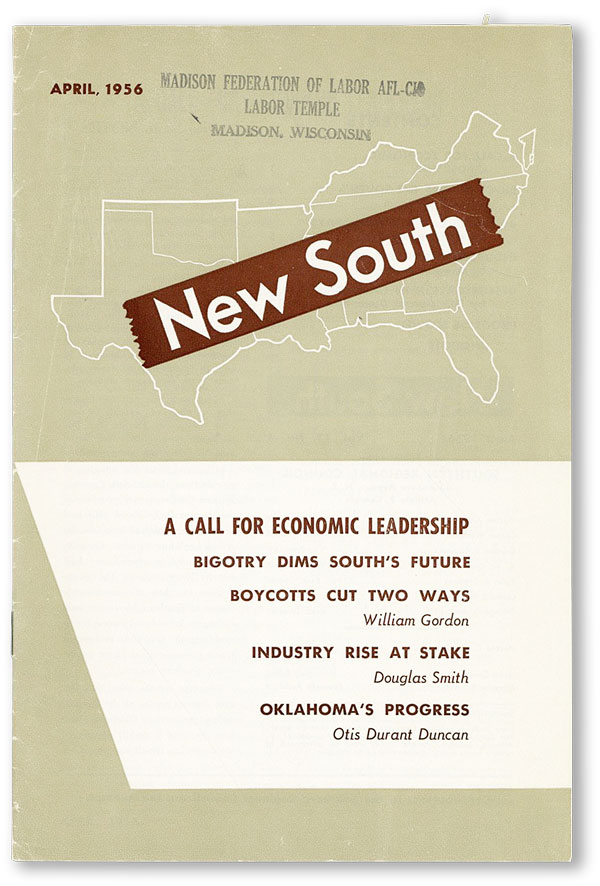 New South. Vol. 11, no. 4 (April, 1956). SOUTHERN REGIONAL COUNCIL.