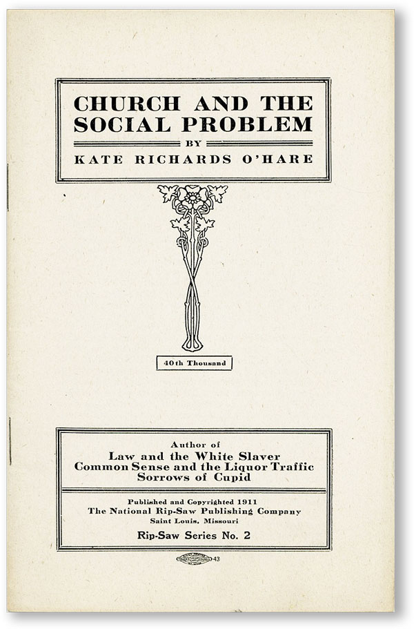 Church and the Social Problem. Kate Richards O'HARE.