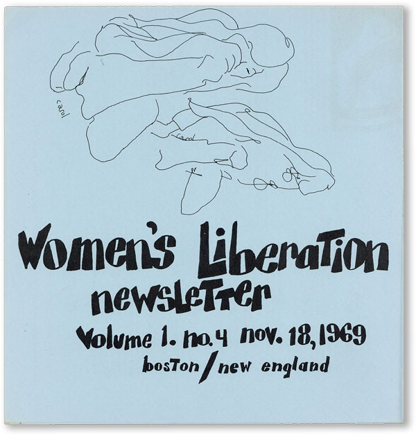 Women's Liberation Newsletter - Vol.1, No.4 (November 18, 1969). WOMEN, NEW ENGLAND FREE PRESS.
