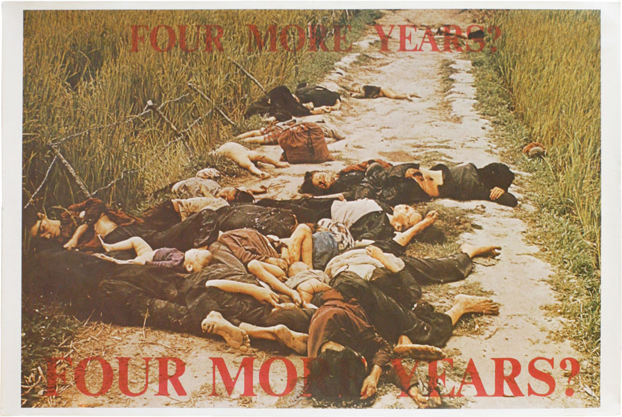 Poster: Four More Years? Four More Years? VIETNAM PROTEST, COUNTERCULTURE, STUDENT MOVEMENTS, photograph.