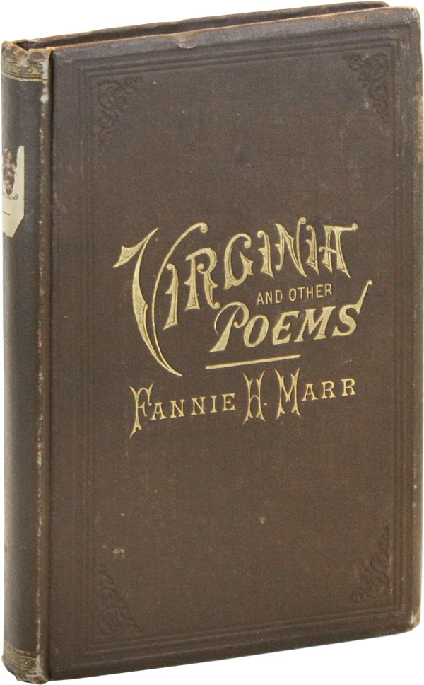 Virginia, and Other Poems. Fannie MARR, arrison.