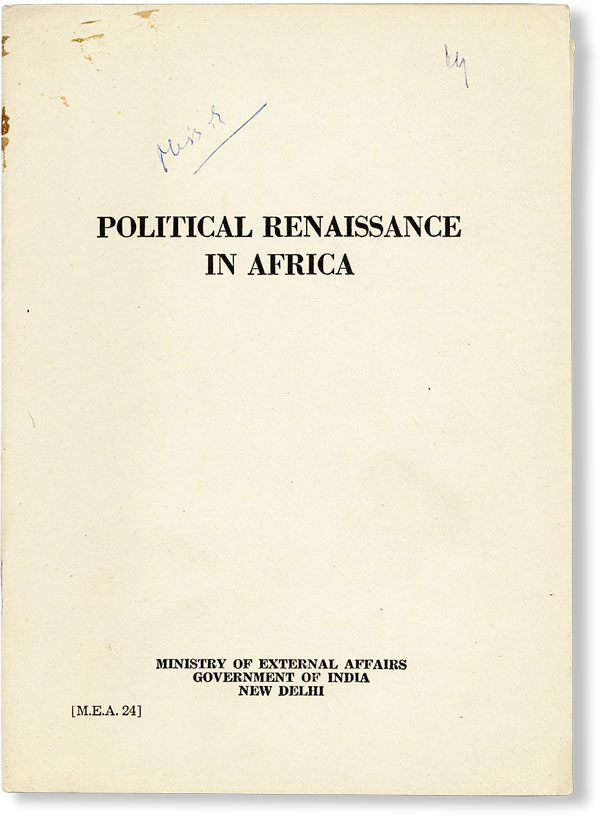 Political Renaissance in Africa. MINISTRY OF EXTERNAL AFFAIRS.