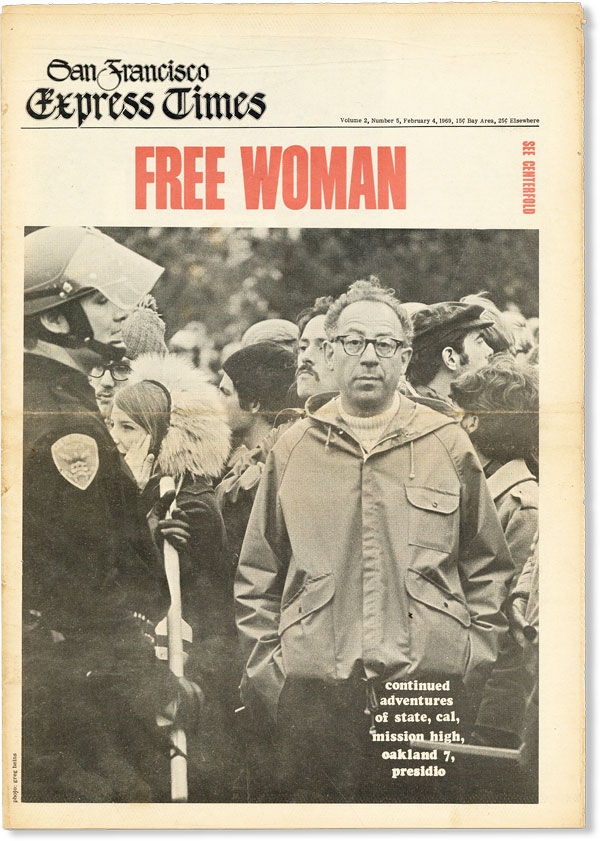 San Francisco Express Times - Vol.2, No.5 (February 4, 1969). UNDERGROUND NEWSPAPERS.
