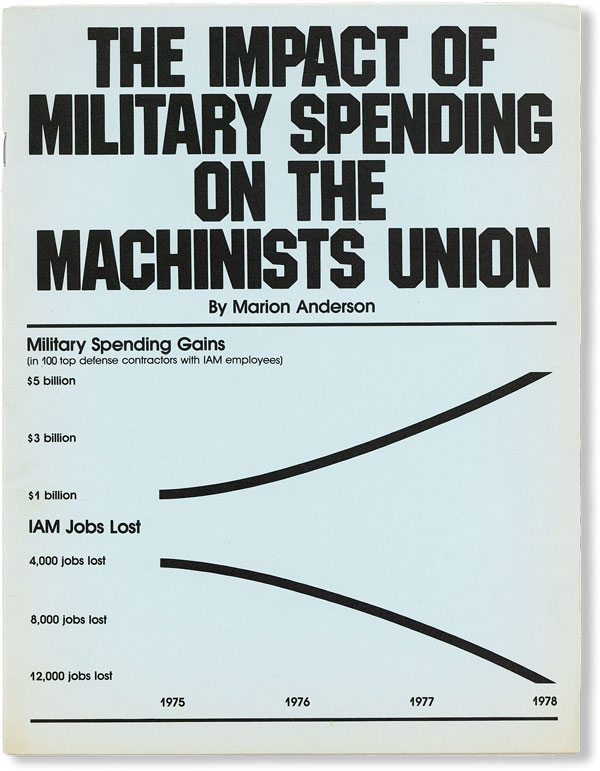 The Impact of Military Spending on the Machinists Union. INTERNATIONAL ASSOCIATION OF MACHINISTS, Marion ANDERSON.