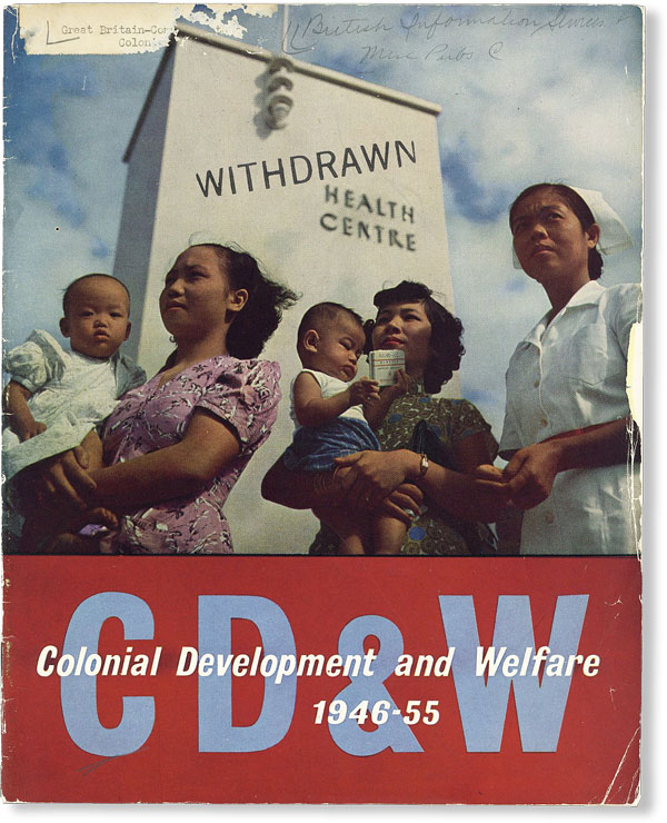 Colonial Development and Welfare, 1946-55 [Cover Title]. Roy LEWIS.