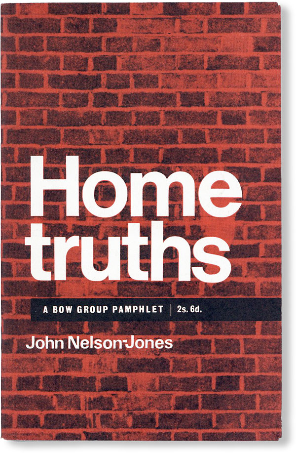 Home Truths on Housing Costs, Rents and Subsidies. John NELSON-JONES.