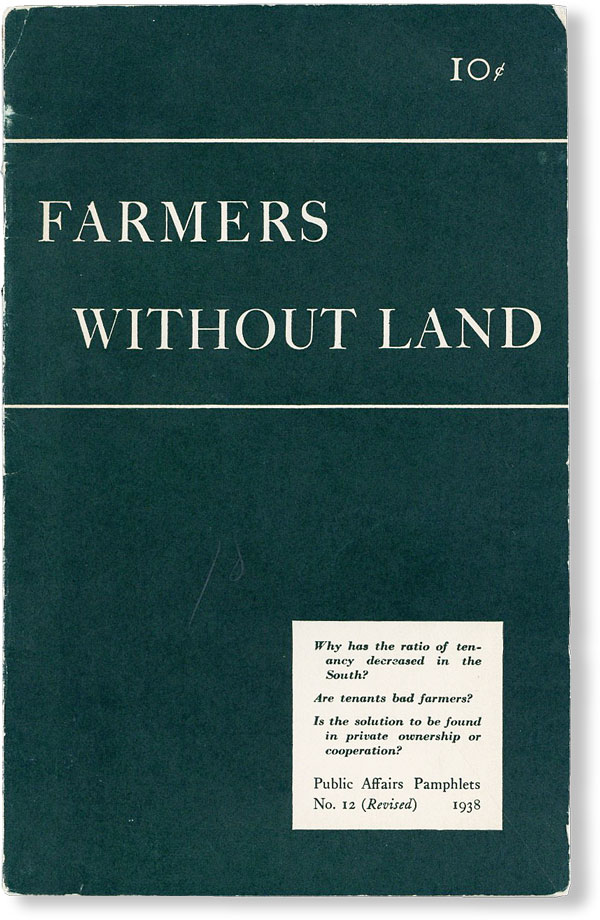 Farmers Without Land. Rupert B. VANCE.
