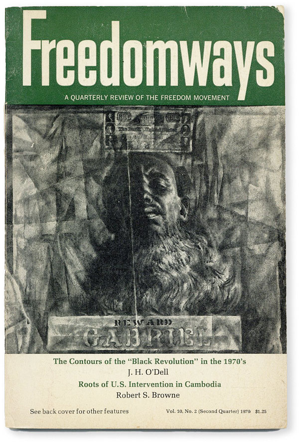 Freedomways: A Quarterly Review of the Negro Freedom Movement - Vol.10, No.2 (Second Quarter, 1970). AFRICAN AMERICANA, Julius K. NYERERE, J. H. O'Dell, Julius E. Thompson, contributors.
