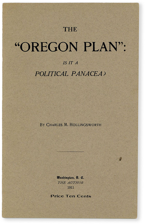 """The """"Oregon Plan"""": is it a Political Panacea? Charles M. HOLLINGSWORTH."""