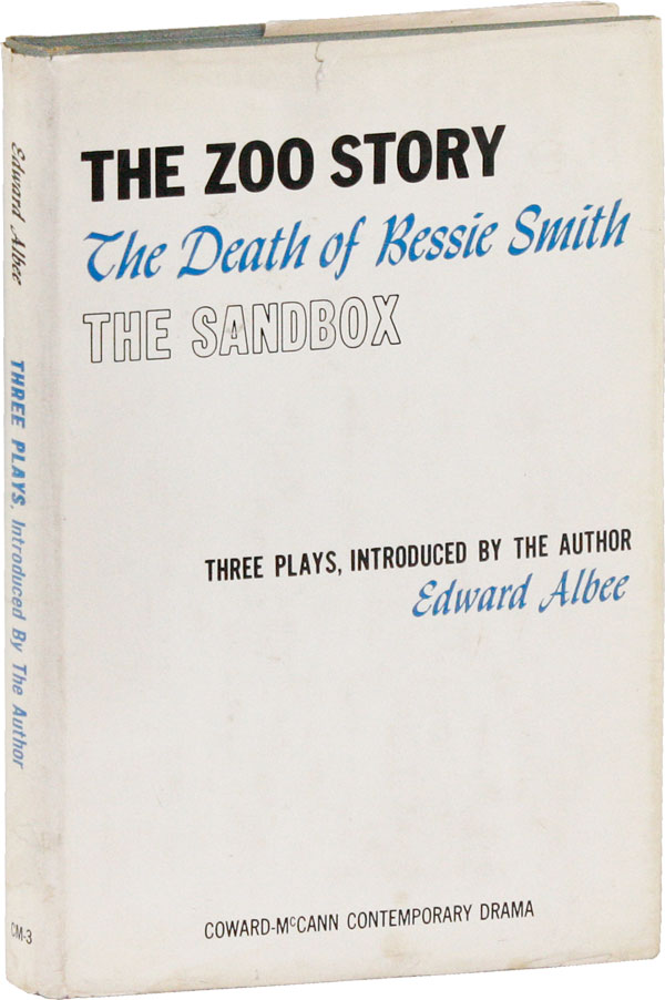 The Zoo Story; The Death of Bessie Smith; The Sandbox: Three Plays, Introduced by the Author [Signed Bookplate Laid-in]. Edward ALBEE, Edward Franklin Albee III.