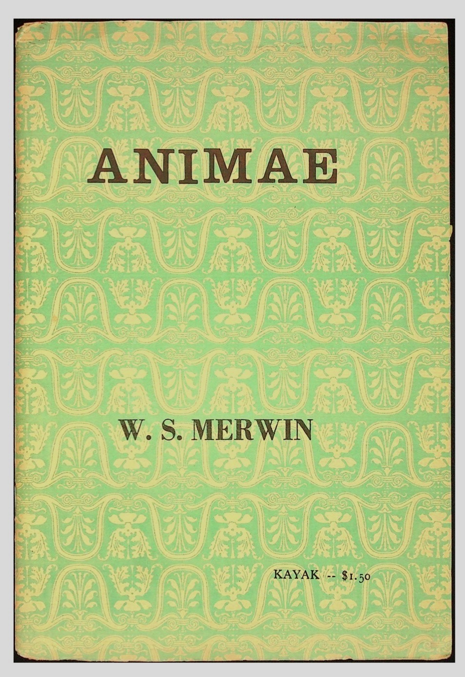 Animae. With Drawings by Lynn Schroeder [Signed Copy]. W. S. MERWIN, William Stanley.